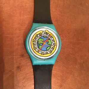 🌲EUC KEITH HARING Milles Pattes Swatch Watch🌲